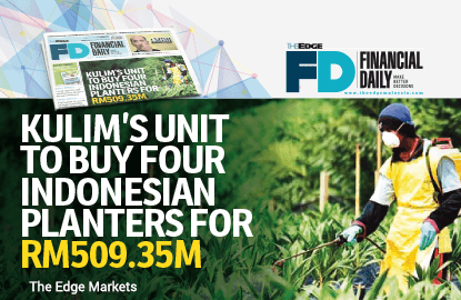 Kulim's unit to buy  Indonesian planters for RM509.35m