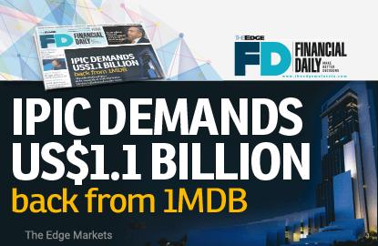 IPIC demands US$1.1b back from 1MDB