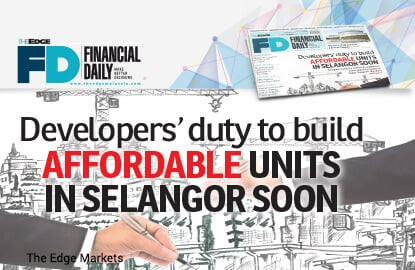 Developers' duty to build affordable units in Selangor soon