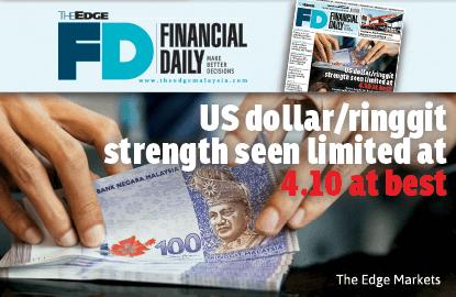 美元/令吉汇率受限于4.10