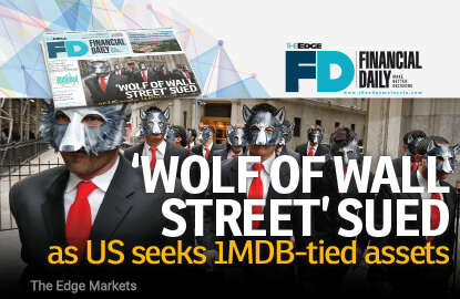 'Wolf of Wall Street' sued as US seeks 1MDB-tied assets