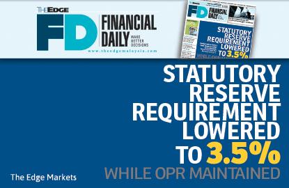 法定储备金率调降至3.5% 隔夜政策利率保持不变