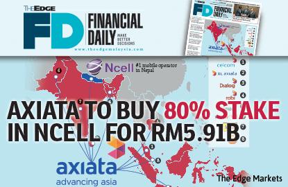 亚通59.1亿令吉购尼泊尔Ncell 80%股权