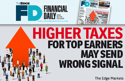 Higher taxes for top earners may send wrong signal