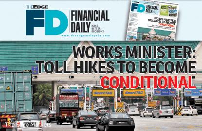 工程部长:调涨过路费 有条件