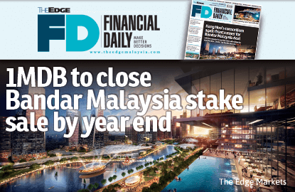 1MDB to close Bandar Malaysia deal by year end