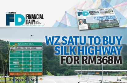WZ Satu以3.68亿令吉收购加影外环公路