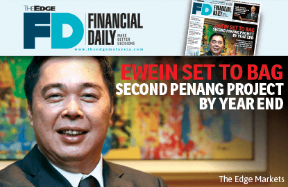 Ewein set to bag second Penang project by year end