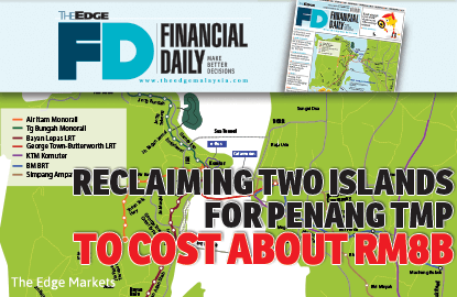 Reclaiming two islands to cost RM8b