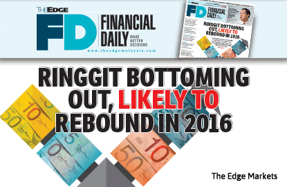Ringgit bottoming out, likely to rebound in 2016