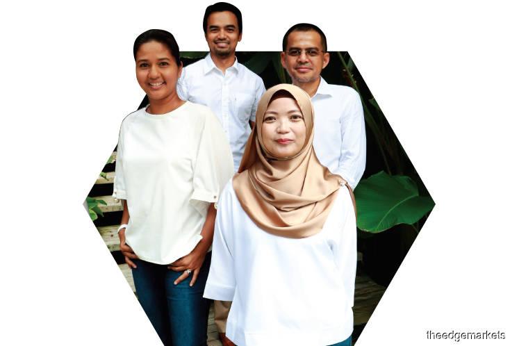 From left: Fern, Fairuz, Siti  and Ahmad