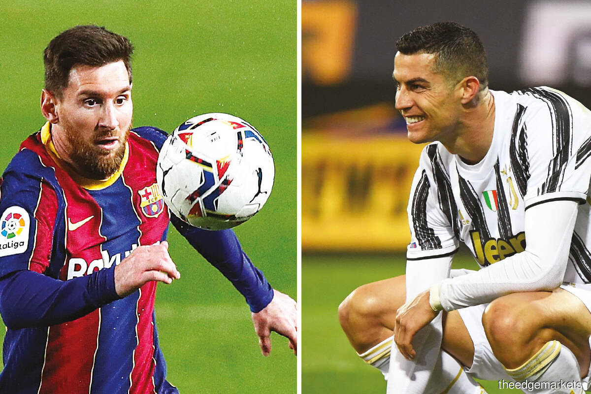 Messi and Ronaldo are still carrying their teams on the field, but the issue is whether their teams can continue to carry them on the balance sheet. (Pictures By Reuters)