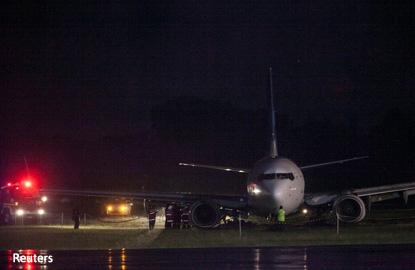 Indonesia's Yogyakarta airport closed after Garuda jet skids off runway
