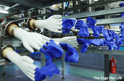 Glove makers rise as U.S. dollar strengthens