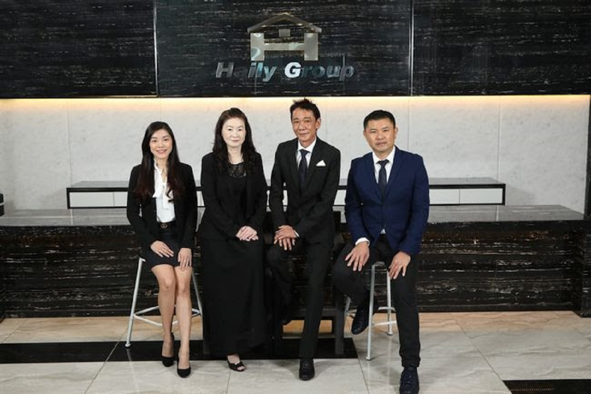 From left: Haily Group Bhd executive director See Swee Ling, Haily Construction Sdn Bhd director Kik Siew Lee, Haily Group founder and executive director See Tin Hai, and Haily Group CEO and executive director Yoong Woei Yeh