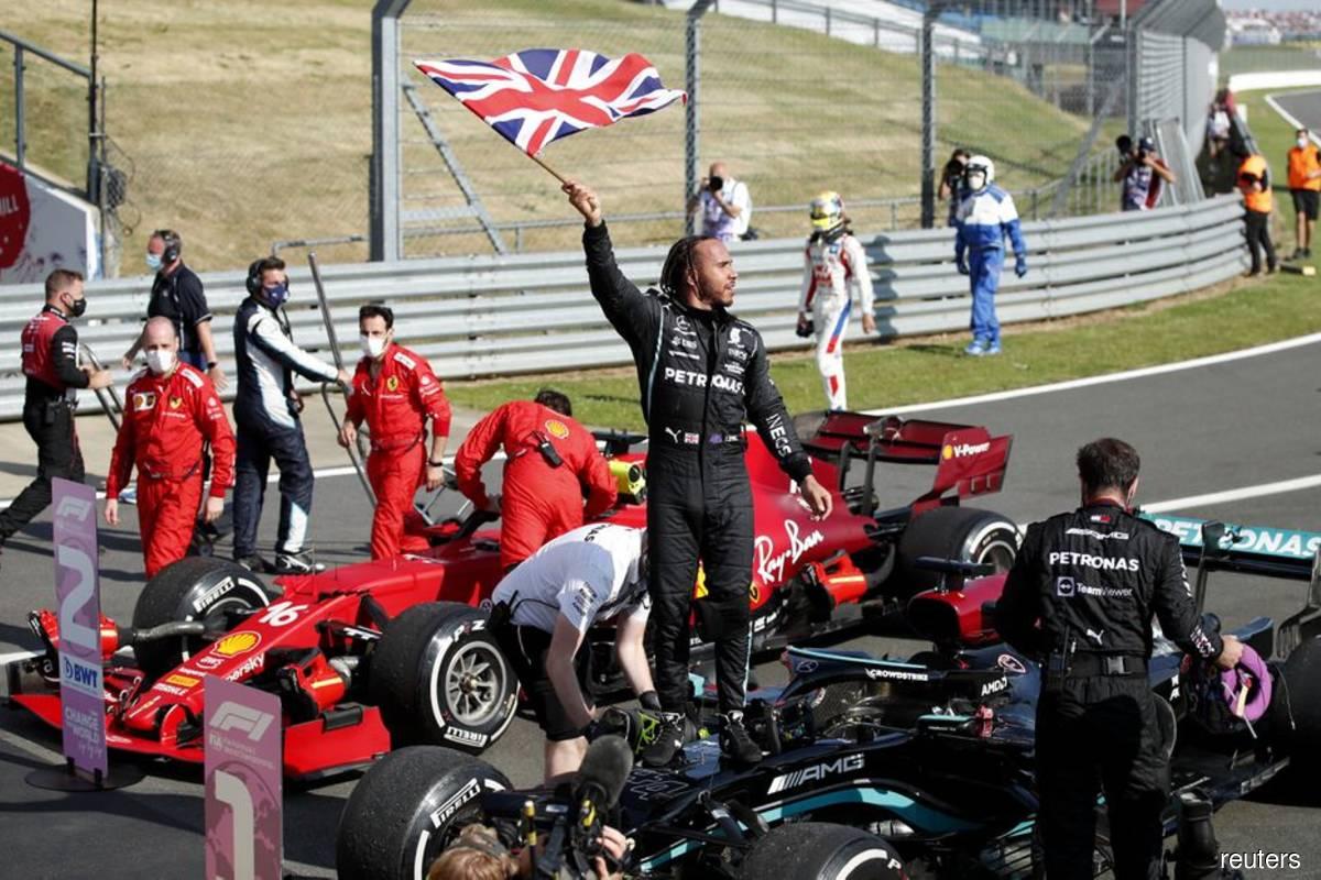 Hamilton takes eighth British win, Verstappen taken to hospital