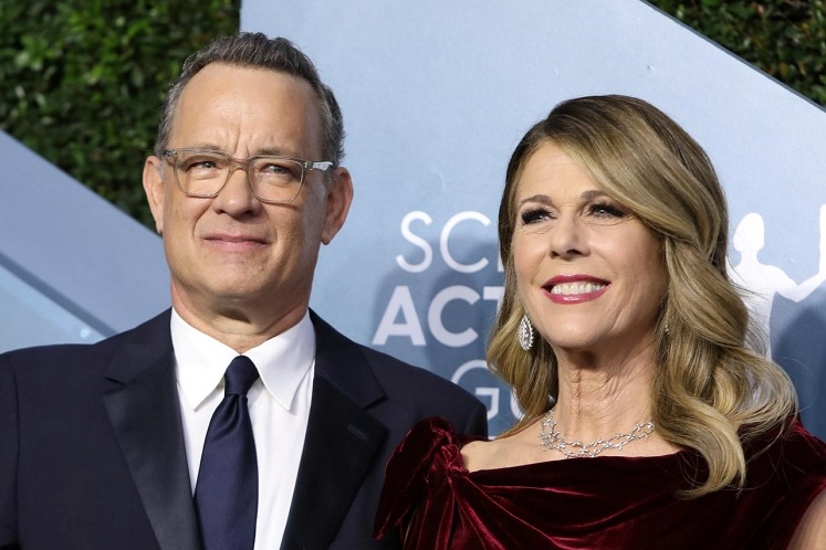 Oscar-winning actor Tom Hanks and his wife, actress Rita Wilson. (Photo by Reuters)
