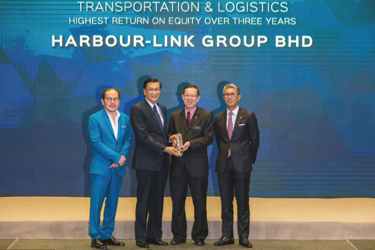 Highest return on equity over three years: TRANSPORT & LOGISTICS: Harbour-Link Group - Strikes the right chord