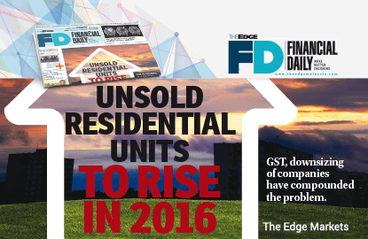 Unsold residential units to rise in 2016