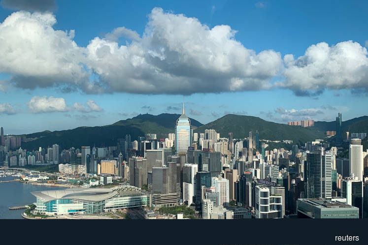 A general view of the financial Central district in Hong Kong.
