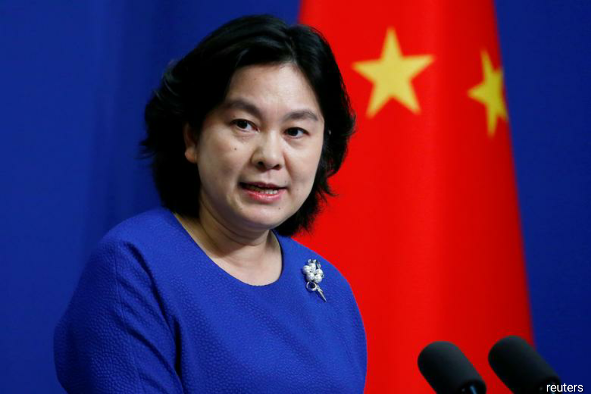 """Chinese foreign ministry spokeswoman Hua Chunying told a daily briefing said that while events in Hong Kong in 2019, when the city's legislature was stormed, were more """"severe"""" than those in Washington, """"not one demonstrator died"""". (Photo by Reuters)"""