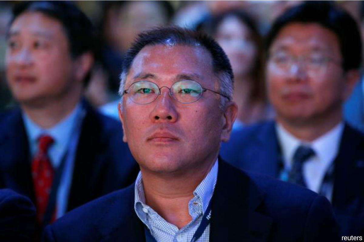 Chung, 49, said he hoped to lead change at South Korea's second-biggest conglomerate as it battles to stay ahead of the pack in a time of rapid technological innovation in the global auto industry. (Photo by Reuters)