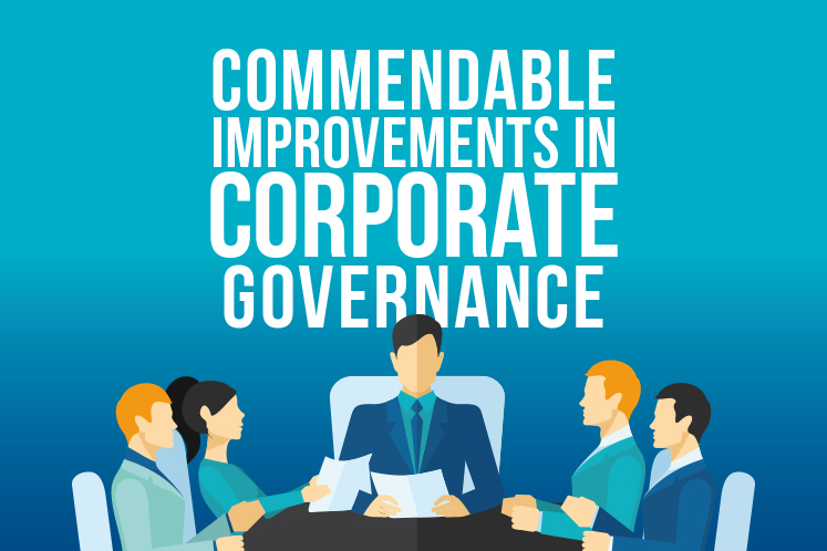 Commendable improvements in Corporate Governance