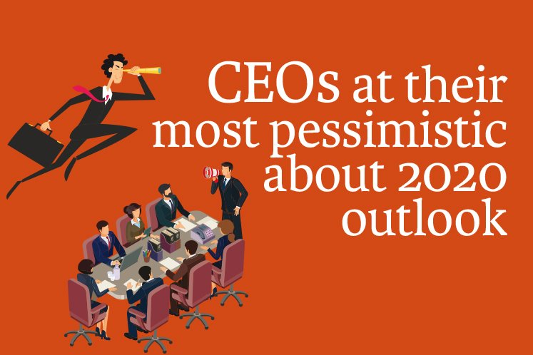CEOs at their most pessimistic about 2020 outlook