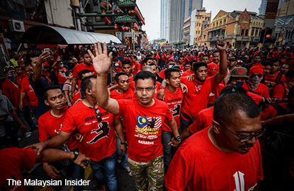 Stop being childish about Petaling Street, 'red shirt' rally leader told