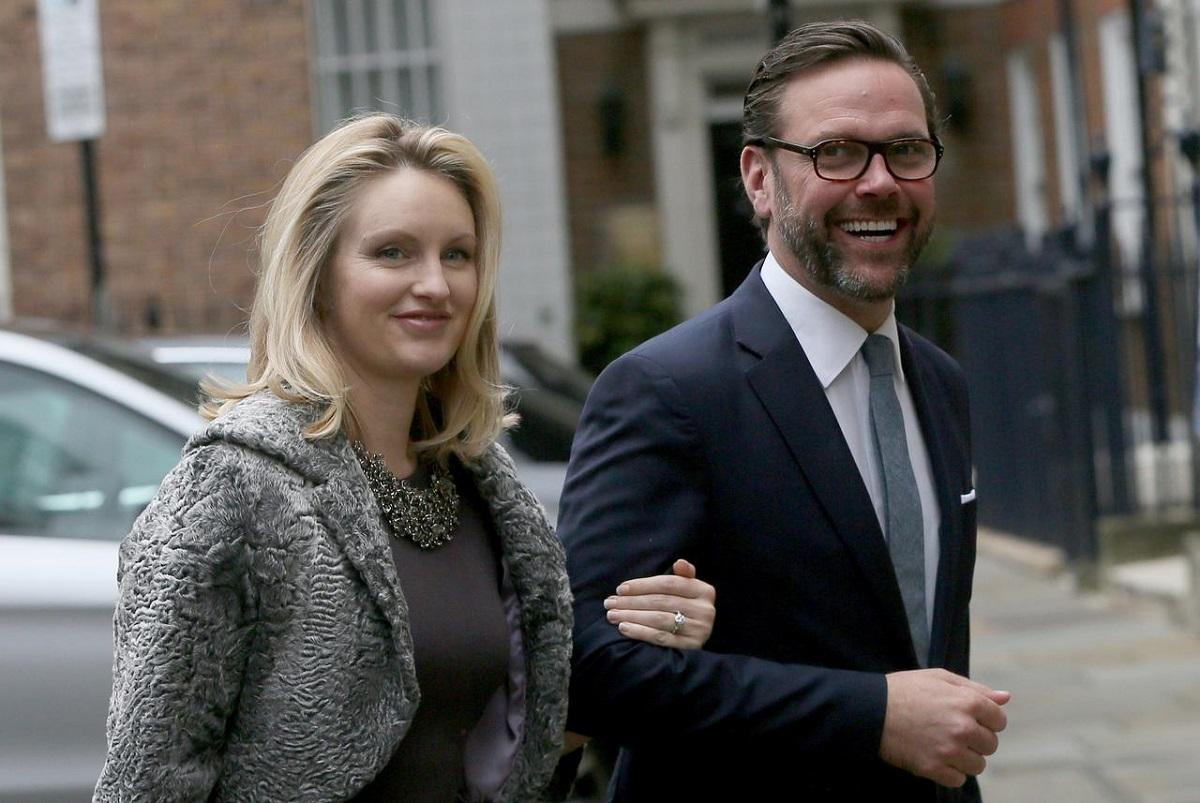 James Murdoch, the son of media mogul Rupert Murdoch, and his wife Kathryn Hufschmid.