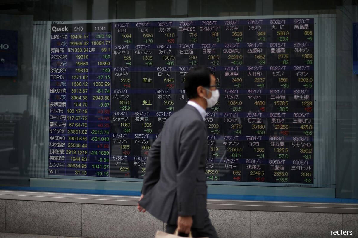 Asian markets hunker down ahead of US presidential debate