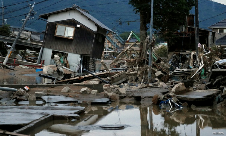 Rains ease in southern Japan but residents warned of landslide risks