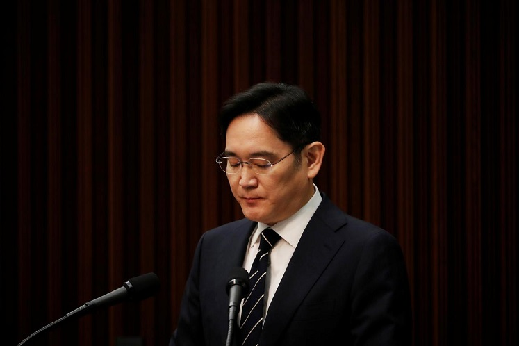 Samsung Group heir Jay Y Lee (Photo by Reuters)