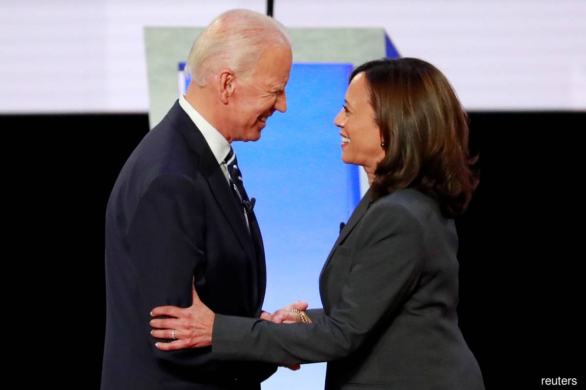 Joe Biden (left) and Kamala Harris (right)