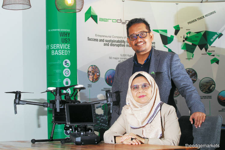 Kamarul and Aerodyne executive director Azita Azian. (Photo by Haris Hassan/The Edge)