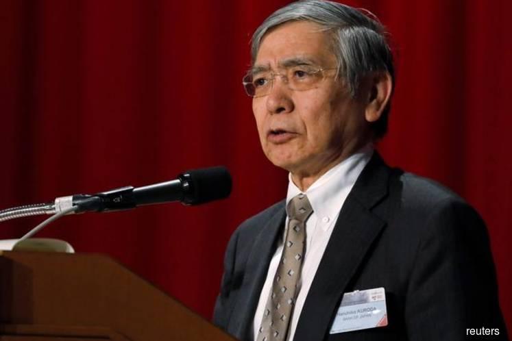 BOJ Kuroda keeps upbeat view on economy, hints steady policy this month