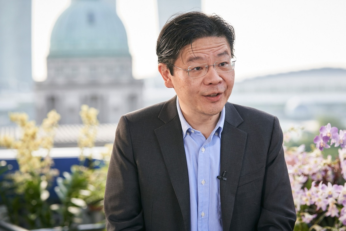 Singapore's Finance Minister Lawrence Wong (Photo by Bloomberg)