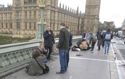 British police say treating incident near Parliament as terrorism-related