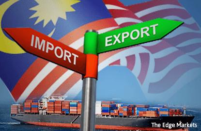 大马1月出口按年跌2.8% 进口增