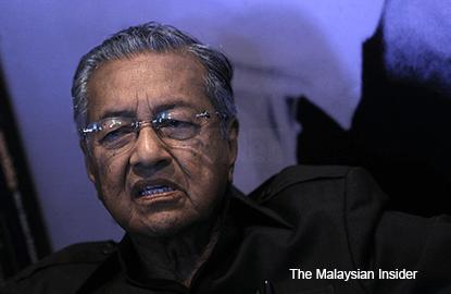1MDB still misleading the public, says Dr Mahathir