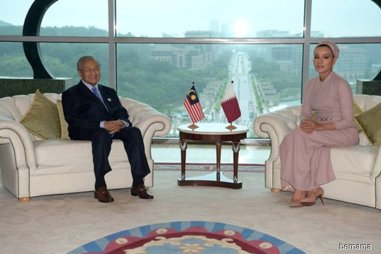 Dr Mahathir receives courtesy call from Sheikha Moza
