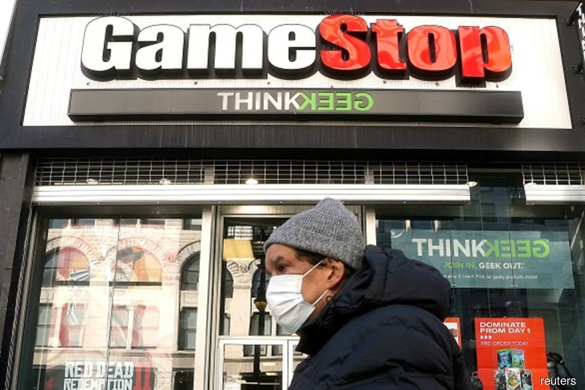 GameStop falls 25% on potential share sale, other 'meme stocks' falter