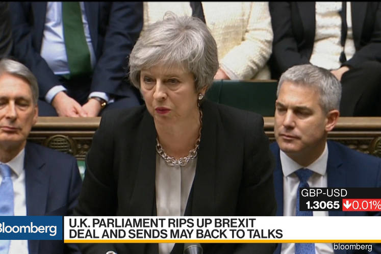 U.K. Parliament Rips Up Brexit Deal and Sends May Back to Talks