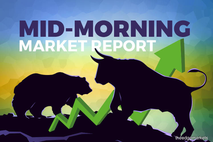 KLCI pares gains, poised to end week on positive note