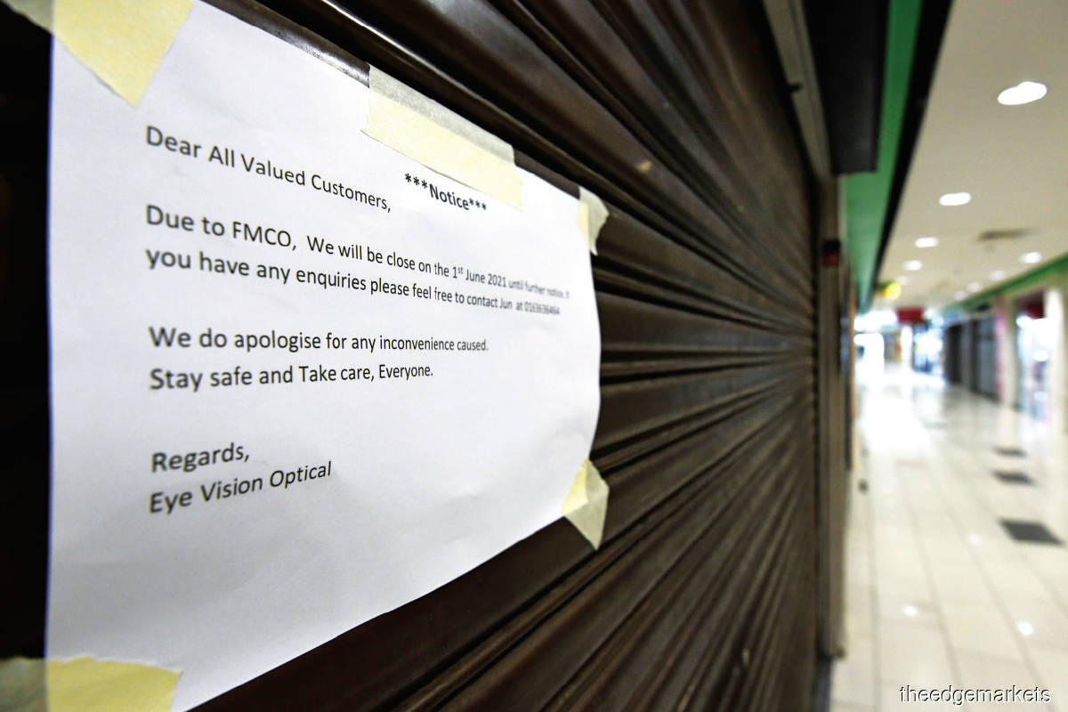 When the MCO was implemented in March 2020, Malaysia was the only country in the region that implemented a blanket automatic loan repayment moratorium for individuals and SMEs (Photo by Patrick Goh/The Edge)