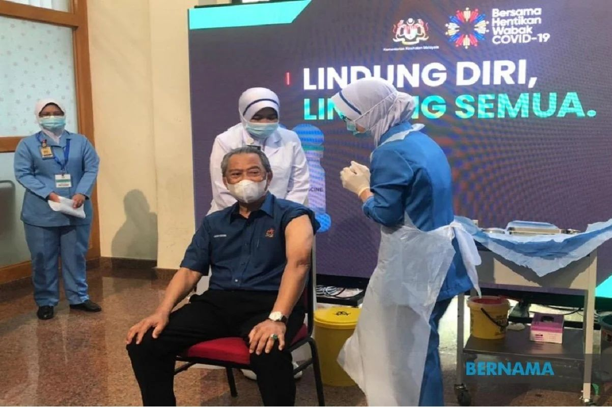 'I'm fine, vaccine is safe,' says Muhyiddin a day after inoculation