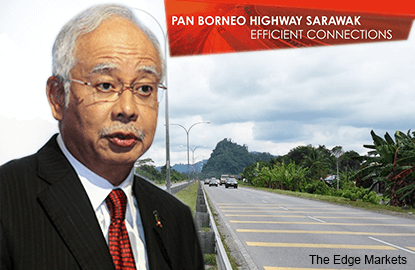 PM Najib says up to RM8b of Pan Borneo Highway contracts for distribution