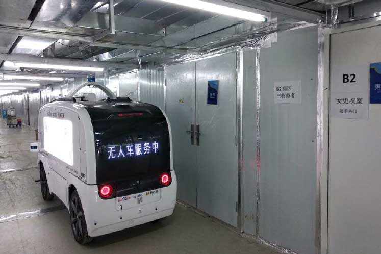 They won't catch the virus so Chinese robovan maker's sales jump