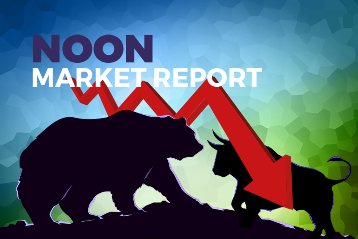 Cautious market sentiment drags Bursa lower at midday