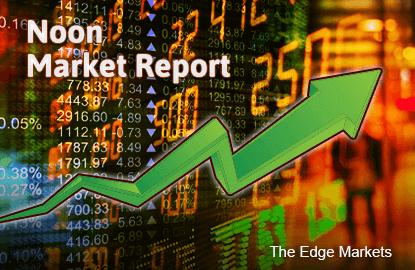 KLCI bounces at midday, gains 0.59%